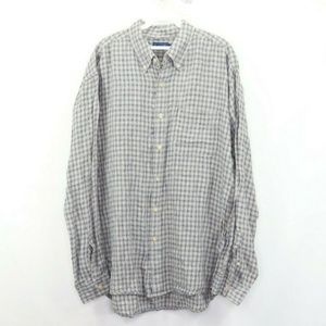 Vintage J Crew Multi-Color Linen Button Shirt L